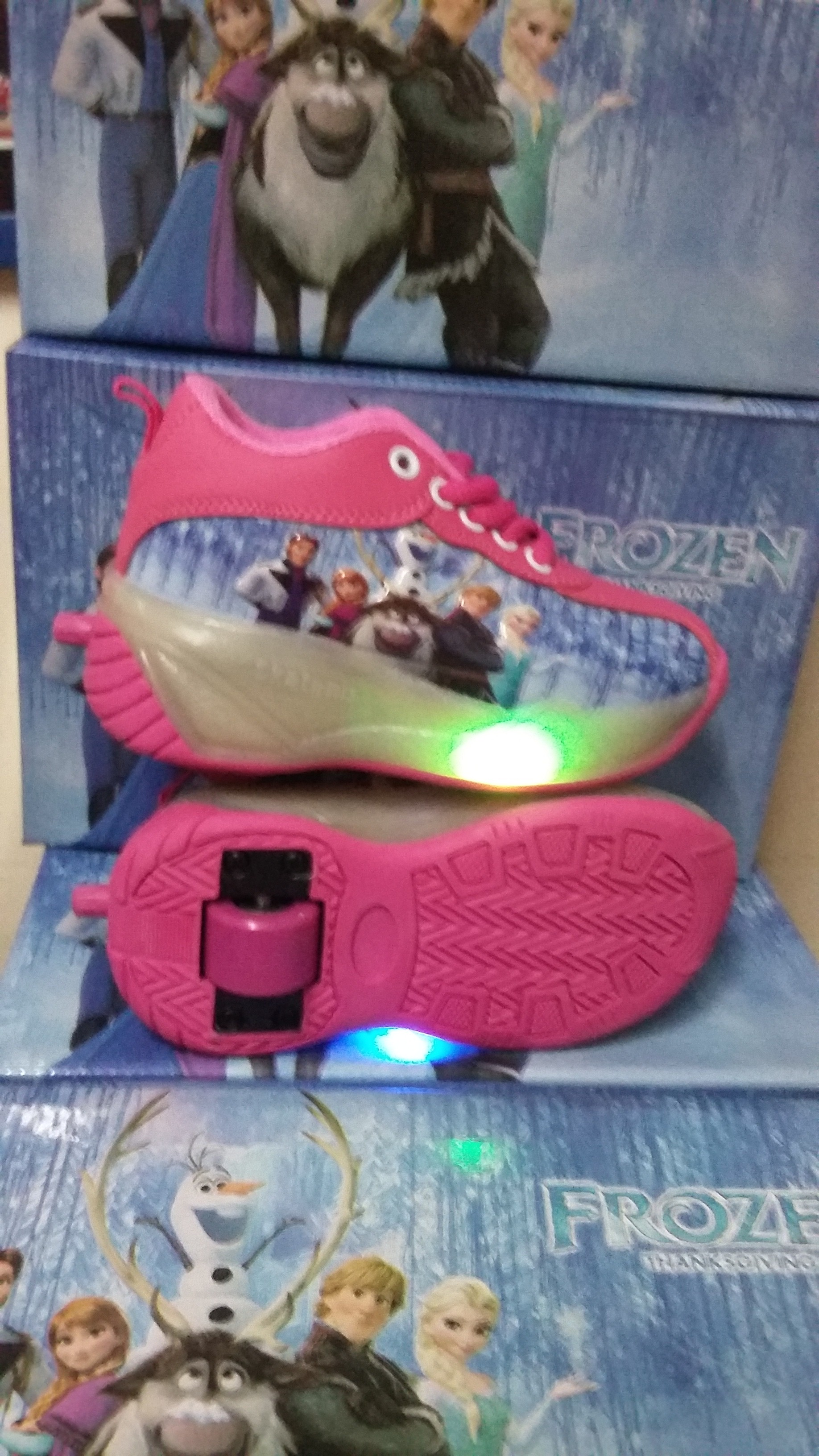 Agen Sepatu Roda Anak Warna Pink Merk Disney Bisa Gambar Frozen 4 Org