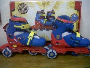 Merk Disney ,Bisa di set model Bajaj & lurus Gambar Spiderman  Biru Merah M = 29-32 ,L=33-36 Harga 370.000