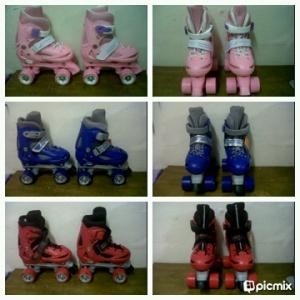 Sepatu 4 Roda Model JADUL + SEPATU 300.000, Warna Pink ,Biru,Merah, Uk bisa di stel, NO S =31-34, M 35-38 Max 80 kg