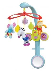 Rp 560.000 Boneka gantung (Musik) Taf Toys Stereo Mobile Safari Taf Toys     Kode Produk:11395     Ketersediaan:Tersedia     Berat:1,00 kg Fitur produk :     Didesain dengan bentuk yang unik dan menarik     Menggunakan bahan yang aman untuk anak anda     Terdapat music unit yang dapat dilepas dan di gantung di babybox anak anda     Terdapat 3 boneka yang dapat digantung     Terdapat kaca yang aman untuk anak anda     Untuk umur 0+
