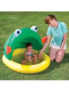 Rp 225.000 Kolam motif Ikan Bestway Fish & Me Pool Bestway     Kode Produk:52162     Ketersediaan:Tersedia     Berat:2,00 kg Fitur produk :     Didesain dengan bentuk yang unik dan menarik     Menggunakan bahan yang aman dan nyaman untuk anak anda     Terdapat penutup dengan desain ikan sehingga anak anda tidak terkena sengatan matahari secara langsung     Kapasitas air 33 liter     Ukuran produk : 114 x 109 x 74 cm