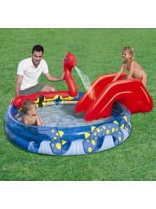 Rp 395.000 Bestway Kolam Viking + perosotan  Bestway     Kode Produk:53033     Ketersediaan:Tersedia     Berat:3,00 kg Viking Play Pool 53033.     Di desain dengan bentuk yang unik dan menarik     Perosotan yang dapat dilepas pasang, sehingga memudahkan untuk di mainkan dimana saja     Spray air dihubungkan dengan selang sehingga kolam bisa mengeluarkan air yang membuat bermain air menjadi lebih menyenangkan     Alas kolam dapat dipompa untuk kenyamanan ekstra pada anak anda pada saat bermain air     Termasuk lem penambal     Kapasitas air 330 liter     Ukuran produk 203x170x76 cm     Ukuran packaging 35x8x33cm