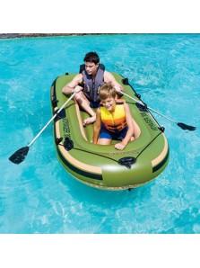 Rp 1080.000 Bestway Voyager 300 Bestway     Kode Produk:65051     Ketersediaan:Tersedia     Berat:0,00 kg  Voyager 300 - 65051     Tali untuk berpegangan disekeliling perahu untuk memberikan keamanan ekstra     Alas perahu dipompa untuk menambah kenyamanan     Terdapat pengunci dayung disamping perahu     Terdapat lubang untuk menaruh alat pancing     Termasuk 1 pasang dayung ukuran 124 cm     Termasuk lem penambal     Untuk 2 orang dewasa dan 1 anak-anak     Kapasitas berat maksimum 190 kg     Ukuran produk (belum ditiup) : 234x135 cm     Ukuran produk (setelah ditiup) : 228x121 cm     Ukuran packaging 65x25x54cm