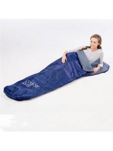 Rp 245.000 Bestway Sleeping Bag Bestway     Kode Produk:67069         Berat:1,00 kg  Fitur Produk :      Di desain dengan bentuk yang nyaman untuk anda pada saat tidur      Menggunakan bahan polyester sehingga melindungi anda dari hujan     Dapat digunakan dalam suhu lebih dari 12oC     Ukuran produk : 221 x 76 cm