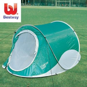Rp.480.000        Info Lengkap 67440 Sojourna Tent     Ukuran produk : 234 x 145 x 99 cm     170T polyurethane tent shell     Fiberglass tent frame     Durable PE floor     Built in screen door     Comfortably sleeps 2 people     Twist n fold tent can be set up and packed away in seconds     Integrated air vents for maximum ventilation     Ideal for camping or day trips at the beach     Carry bag with insert card
