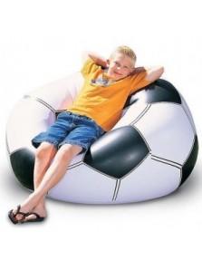 Rp 180.000 Bestway Sofa Bola Bestway     Kode Produk:75010     Ketersediaan:Tersedia     Berat:2,00 kg 75010 Beanless Soccer Ball Chair     Di desain dengan bentuk yang nyaman     Cocok bagi anda penggila bola, karena desainnya yang menarik menyerupai sepakbola.     Tempat duduk terbuat dari bahan yang aman dan sangat nyaman     Cocok untuk di pakai di dalam maupun di luar ruangan.     Termasuk lem penambal     Ukuran produk : 114x112x71cm     Ukruan packaging 30x7x29,5cm