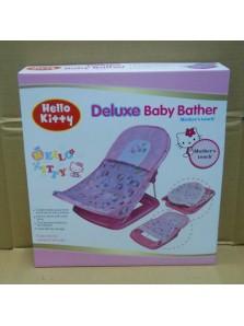 Rp 200.000 Deluxe Baby Bather Kitty Kode Produk:AZ 318 Ketersediaan:Tersedia Berat:2,00 kg Fitur produk :     Didesain dengan bentuk dan ilustrasi yang unik dan menarik     Menggunakan bahan kain yang nyaman untuk anak anda pada saat dimandikan     Terdapat bantalan sehingga lebih empuk     Kaki anak anda akan terasa lebih nyaman pada saat mandi     Bahannya yang lembut     Mudah untuk dibersihkan     Dapat dengan mudah dilipat dan dipasang kembali     Maksimum beban : 11 kg     Ukuran packaging : 33 x 35 x 8,5 cm