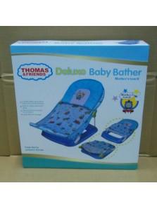 Rp 200.000 Deluxe Baby Bather Thomas     Kode Produk:AZ 319     Ketersediaan:Tersedia     Berat:2,00 kg Fitur produk :     Didesain dengan bentuk dan ilustrasi yang unik dan menarik     Menggunakan bahan kain yang nyaman untuk anak anda pada saat dimandikan     Terdapat bantalan sehingga lebih empuk     Kaki anak anda akan terasa lebih nyaman pada saat mandi     Bahannya yang lembut     Mudah untuk dibersihkan     Dapat dengan mudah dilipat dan dipasang kembali     Maksimum beban : 11 kg     Ukuran packaging : 33 x 35 x 8,5 cm