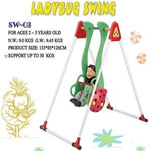 Info Lengkap Ayunan Lady Bug SW 03     Untuk umur 2 - 5 tahun     Ukuran produk : 85x147x110 cm     Ukuran karton : 128 x 21 x 38 cm     Beban ayunan sampai dengan 30 kg