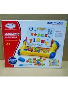 Rp 115.000  Papan belajar Magnetic     Kode Produk:HM 1113A     Ketersediaan:Tersedia     Berat:1,00 kg Fitur produk :     Didesain dengan bentuk yang unik dan menarik      Papan yang dapat ditulis dengan spidol dan dihapus      Terdapat angka dan huruf yang dapat ditempal di papan     Membantu anak anda belajar mengenal angka dan huruf dengan menarik     Untuk umur 3 tahun keatas     Ukuran packaging : 30 x 36,5 x 5 cm