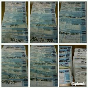 Resi pengiriman dari Juli sampai Desember 2012
